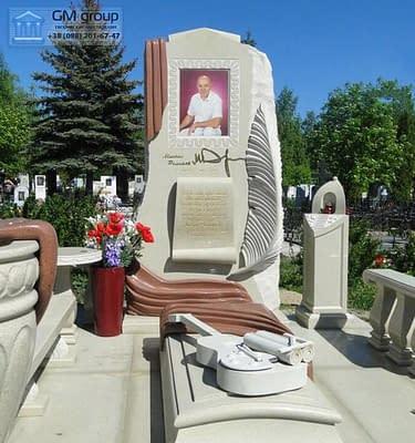 Элитный мраморный памятник №75