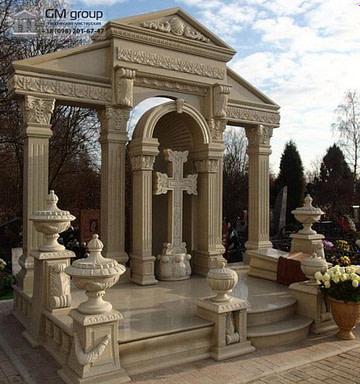 Элитный памятник из мрамора с крестом №73
