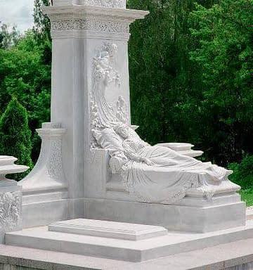 Мраморный памятник женщине №72