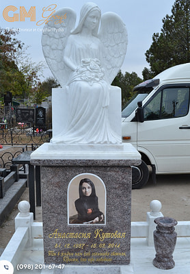 Статуя ангела из мрамора на могилу PF-12